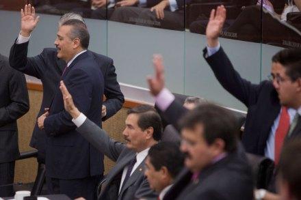 La sesión en el Senado. Foto: Octavio Gómez