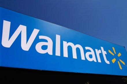 El logo de la cadena de autoservicio Walmart. Foto: AP
