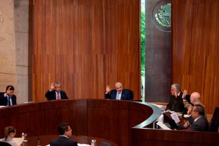 Sesión del TEPJF. Foto: Eduardo Miranda