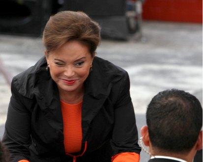 La dirigente del SNTE, Elba Esther Gordillo. Foto: Benjamin Flores