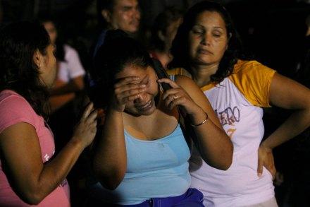 La escena de un asesinato de 5 hombres en el municipio de Juárez, Monterrey, en octubre de 2012. Foto: Xinhua / Víctor Hugo Valdivia