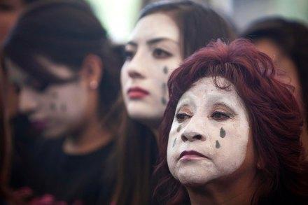 Protestan contra la violencia hacia las mujeres en la ciudad de México. Foto: Xinhua / Rodrigo Oropeza