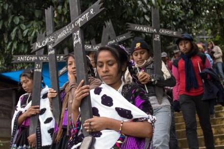 Conmemoran 15 años de la matanza de Acteal. Foto: Xinhua