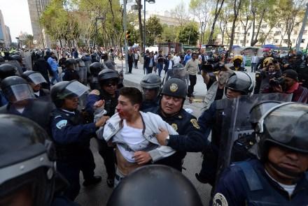 Disturbios en el Centro Histórico el sábado pasado. Foto:
