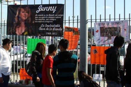 Despiden a Jenni Rivera en Monterrey. Foto: Víctor Hugo Valdívia