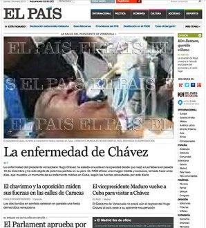 La noticia publicada en el portal del diario El País. Foto: El País