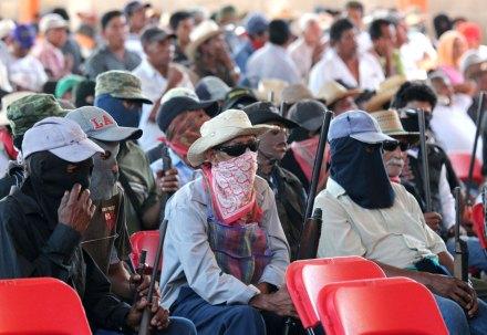 La semana pasada pobladores de Ayutla, Guerrero tomaron las armas. Foto: José Luis de la Cruz