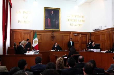Sesión de la Suprema Corte de Justicia. Foto: Germán Canseco.