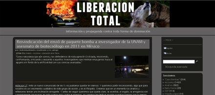 La página web del grupo anarquista.