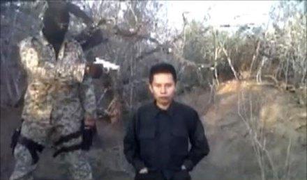 La ejecución del supuesto colaborador de Valor por Tamaulipas. Foto: Youtube.com