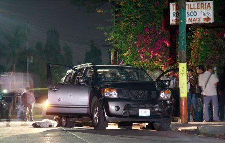 Asesinan a tres escoltas del Procurador de Morelos... Foto: Margarito Pérez