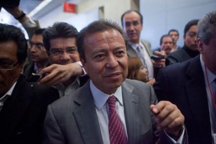 César Camacho Quiroz, dirigente nacional del PRI. Foto: Miguel Dimayuga.