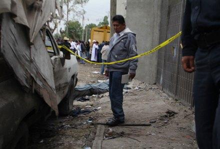 El saldo de la explosión en Tlaxcala. Foto: Xinhua