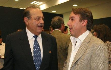 Slim y Azcárraga. Foto: Ariel Ojeda / El Universal
