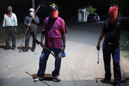 La foto de Félix Márquez donde aparece un grupos de autodefensa en Veracruz. Foto: Félix Márquez