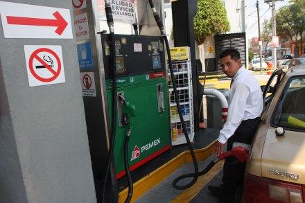 Una gasolinería en la Ciudad de México. Foto: Hugo Cruz