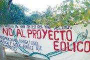 Una de las protestas contra el proyecto eólico en Oaxaca. Foto: Especial