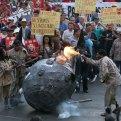 Sindicalistas protestan contra la reforma energética. Foto: Germán Canseco