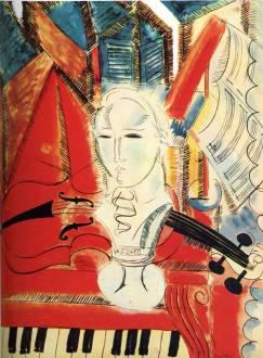 Homenaje a Mozart, una pintura de Raoul Dufy.