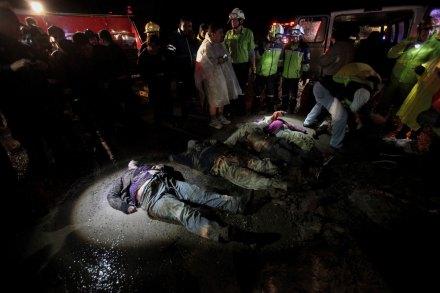 Derrumbe deja siete muertos en la carretera México-Querétaro. Foto: Xinhua / Susana Martínez