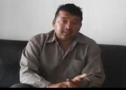 El escolta Frank Armenta Espinoza. Foto: Tomada de video.