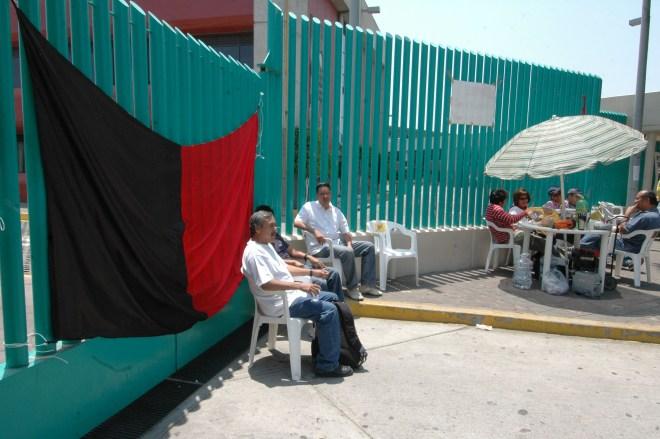 Imagen de una huelga pasada en las prepas del GDF