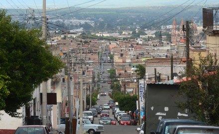 Lagos de Moreno, Jalisco, donde hace 15 días desaparecieron seis jóvenes. Foto: Rafael del Río