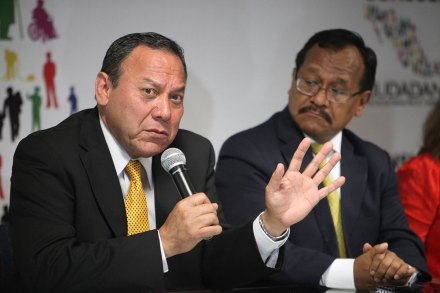 Zambrano y Sánchez durante la presentación del Consejo. Foto: Benjamin Flores