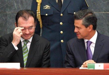 Videgaray y Peña en Los Pinos. Foto: Eduardo Miranda