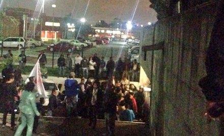 La irrupción de los maestros en San Lázaro. Foto: Tomada de Twitter @YE5HUA