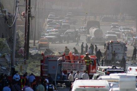 La explosión de la maquiladora en Juárez. Foto: Ricardo Ruíz
