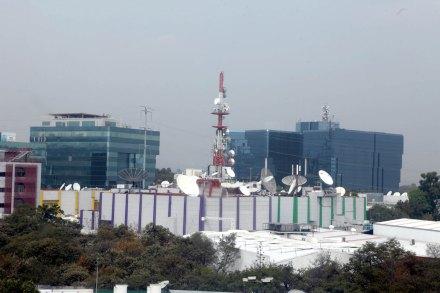 Las instalaciones de TV Azteca, al sur de la ciudad de México. Foto: Benjamin Flores