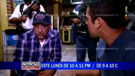 """""""La Tuta"""" durante la entrevista con Mundo Fox. Foto: Especial"""