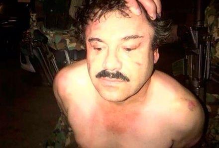 La detención de Joaquín El Chapo Guzmán, líder del Cártel de Sinaloa. Foto: NYT / Tomada de Twitter