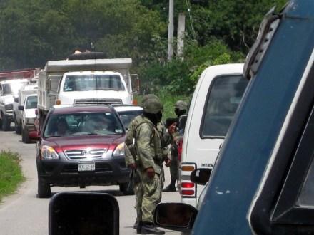 Elementos del Ejército en Chilapa, Guerrero. Foto: Óscar Alvarado
