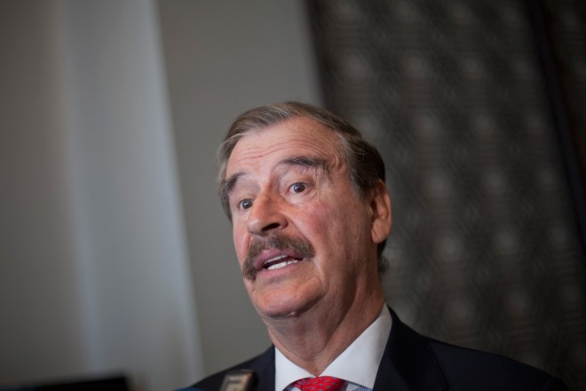 El expresidente Vicente Fox. Foto: Miguel Dimayuga