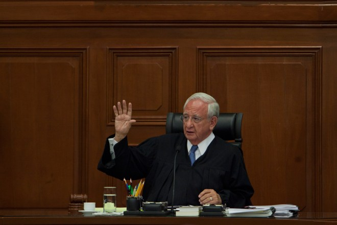El ministro Juan Silva Meza en la Corte. Foto: Miguel Dimayuga