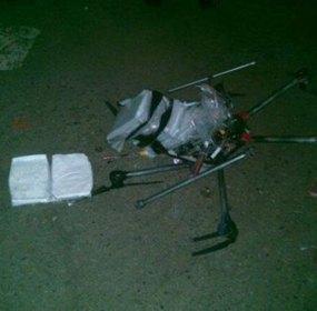 El dron que colisionó en Tijuana. Foto: Especial