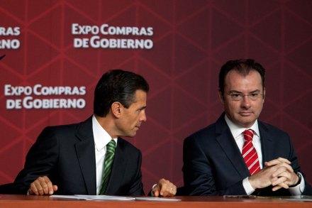 Peña y Videgaray en un acto público en mayo de 2014. Foto: Eduardo Miranda