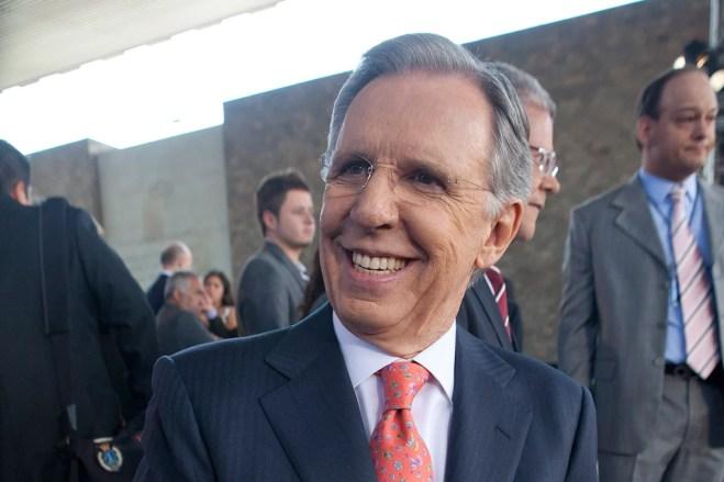 Joaquín López Dóriga, conductor del noticiero nocturno de Televisa. Foto: Miguel Dimayuga