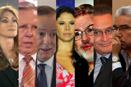 Adela Micha, Joaquín López Dóriga, Ciro Gómez Leyva, Paola Rojas, Eduardo Ruíz Healy, Ricardo Rocha y Ricardo Alemán. Foto: Procesofoto