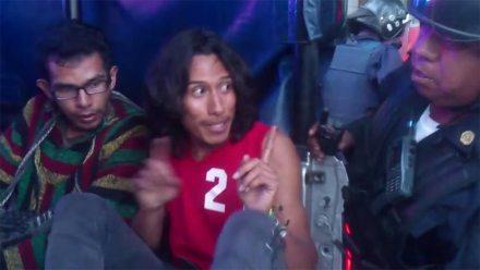 Andrés Pérez Rosales, uno de los jóvenes detenidos durante una protesta en la Ciudad de México. Foto: Tomada de YouTube