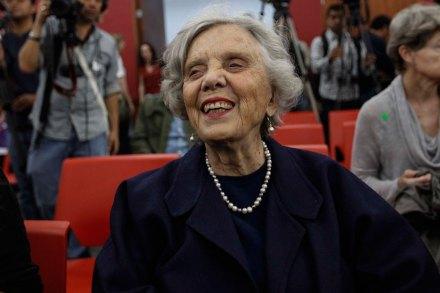 La escritora y periodista Elena Poniatowska. Foto: Germán Canseco