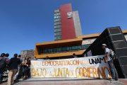 Protestan contra la Junta de la Gobierno de la UNAM. Foto: Hugo Cruz