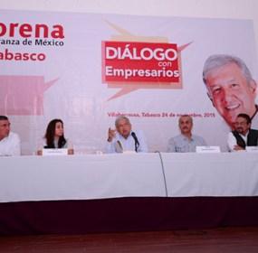 Obrador de gira en Villahermosa. Foto: Especial