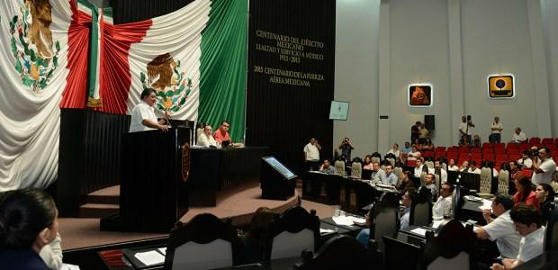 La sesión en el Congreso de Q. Roo. Foto: Especial