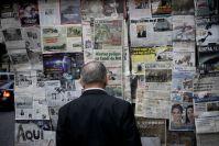 Un puesto de periódicos en el Centro Histórico del DF. Foto: Eduardo Miranda