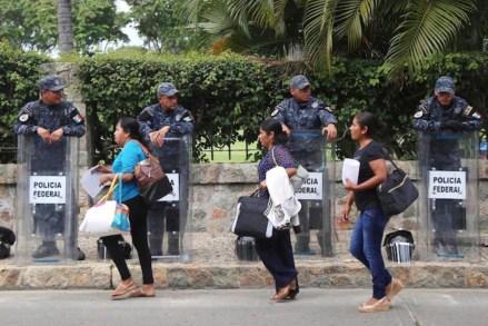 Vigilancia policiaca en Acapulco. Foto: El Sur /Jesús Trigo