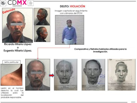 Ricardo Hilario López o Eugenio Hilario López, de 50 años, presunto violador. Foto: PGJDF