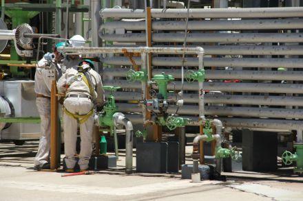 El petróleo mexicano, a la baja. Foto: Víctor Hugo Rojas